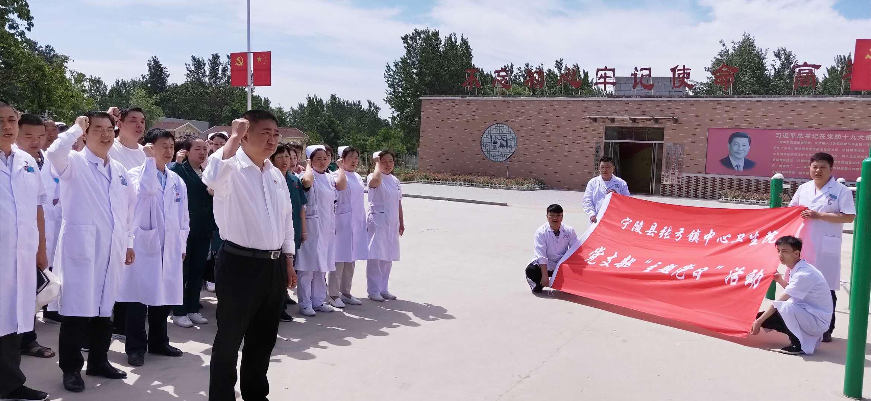 张弓镇中心卫生院到小吕集村开展主题党日活动