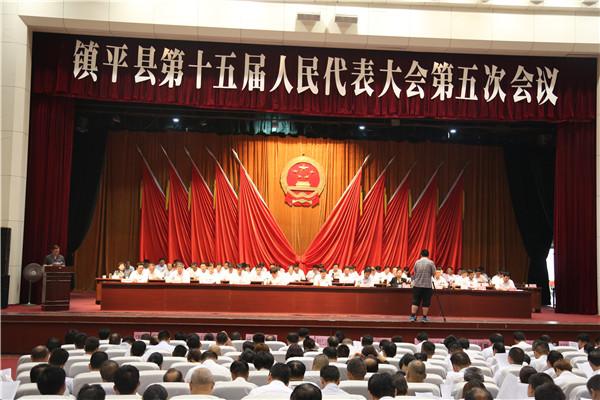 镇平县法院院长刘伟向人大做法院工作报告