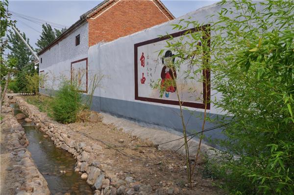 宝丰王堂村:创意涂鸦绘就美丽乡村