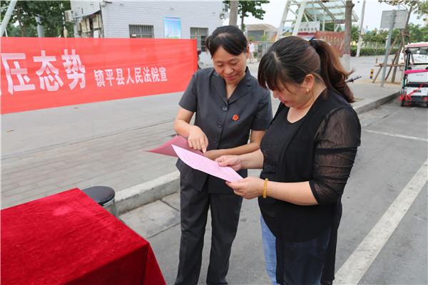 镇平县法院开展环境保护法宣传活动