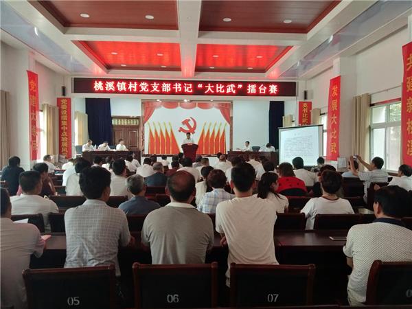 """内乡县桃溪镇:村党支部书记设擂""""比武""""竞风采"""