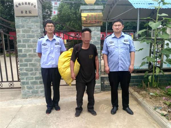 邓州胜利派出所民警在走访中救助一名外地男子