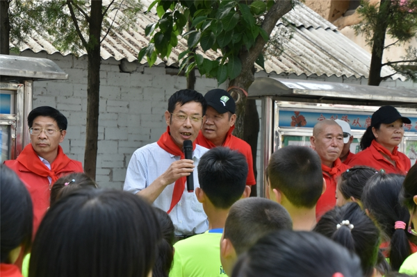 """关爱山区孩子 传播正能量 河南省江苏商会""""爱心进校园""""公益活动在嵩县成功举行"""
