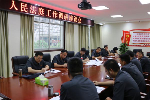 南阳法院西片区人民法庭工作调研座谈会在西峡召开