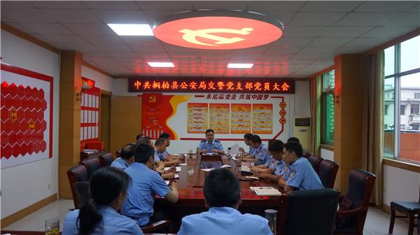 桐柏交警:党建引领促发展 支部换届再扬帆