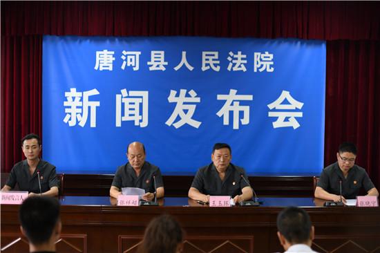 唐河县法院召开执行工作新闻发布会
