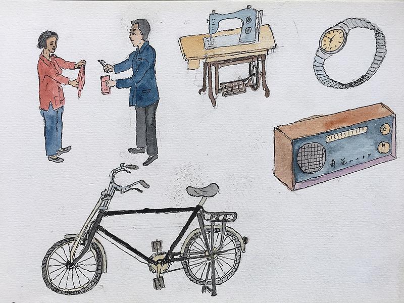 用自来水笔再现过去的乡村岁月:焦金安农民画作品欣赏