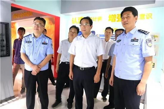社旗县委书记余广东调研督导公安工作