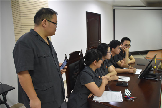 桐柏法院组织开展庭审语音录系统培训会