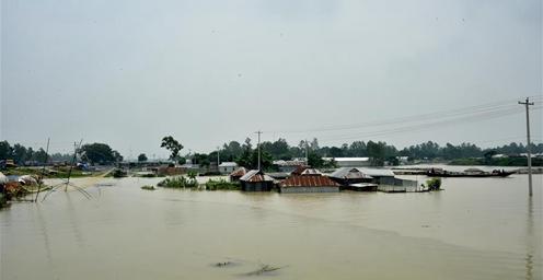 孟加拉国:强降雨造成洪水灾害