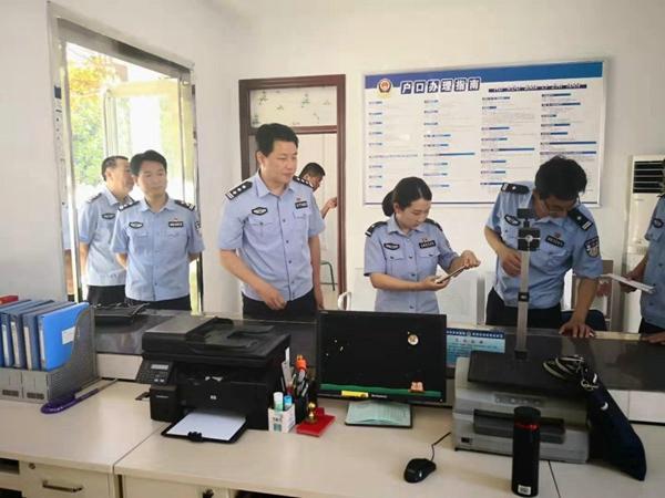 社旗县公安局局长高青督导派出所规范化建设工作