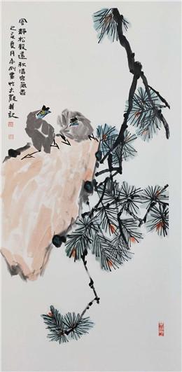 庆八一书画名家精品展在郑州开幕