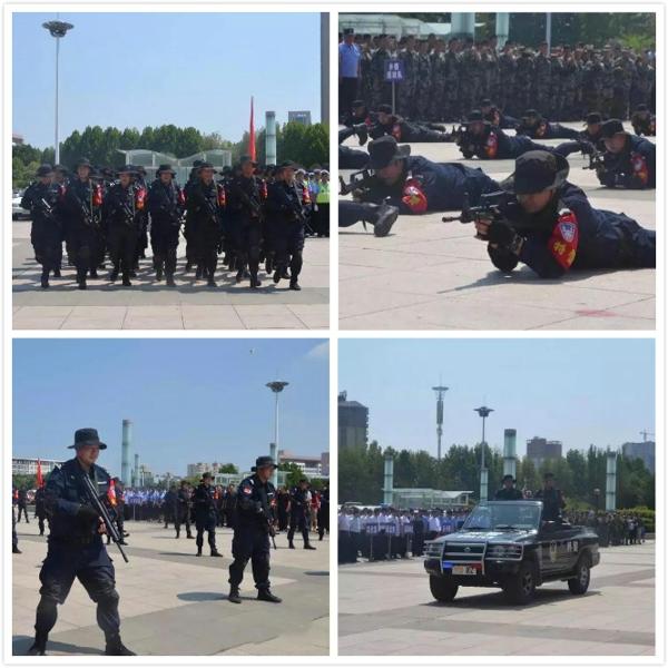 社旗县举行新中国成立70周年大庆安保誓师大会
