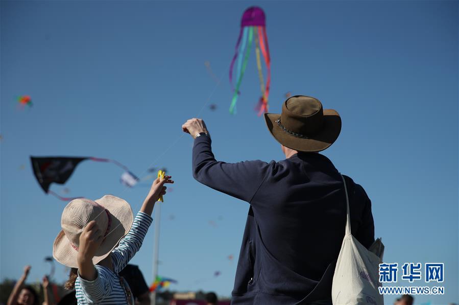 澳大利亚:风筝飞扬 吸引市民前来观看