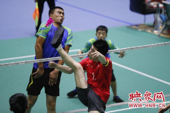 燃!第11届全国民族运动会毽球(小组赛)河南队2:0击败重庆队