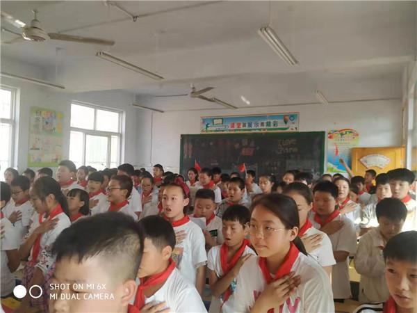 读书 演讲 唱红歌 新野朝阳小学这样为祖国庆生