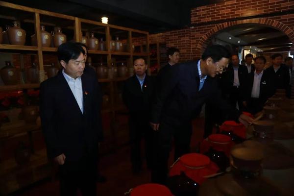 河南省政协主席刘伟调研仰韶:彩陶坊是豫酒品质的标杆!