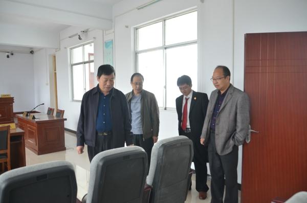 新野法院院长王付令到沙堰、上庄法庭调研主题教育活动及人民法庭工作