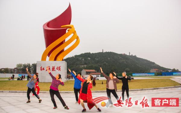 林州规划建设龙头山公园 地标红旗渠雕塑亮相入口广场