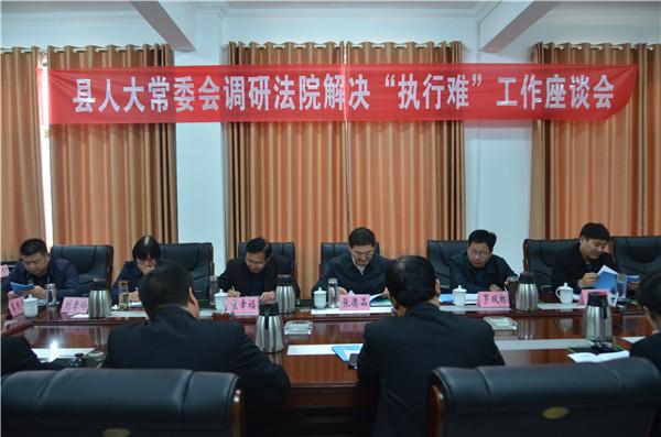 县人大常委会视察调研新野法院解决执行难工作