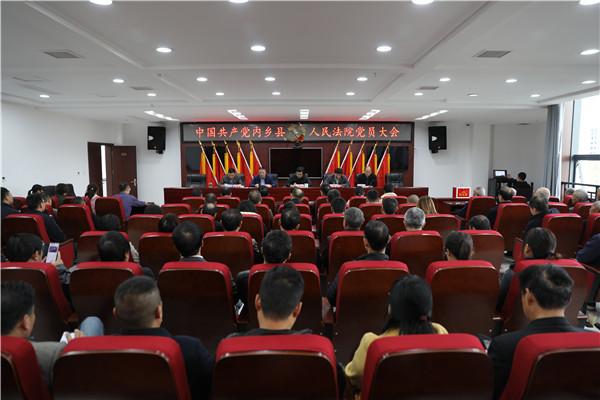 内乡法院召开党员大会选举产生第一届机关委员会及纪律检查委员会