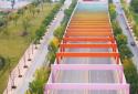 航拍:郑州最美的彩虹隧道