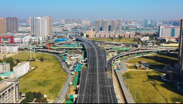 航拍:郑州四环高架主线即将全线贯通