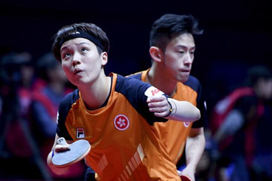 乒乓球——世界巡回赛总决赛:黄镇廷/杜凯琹晋级四强