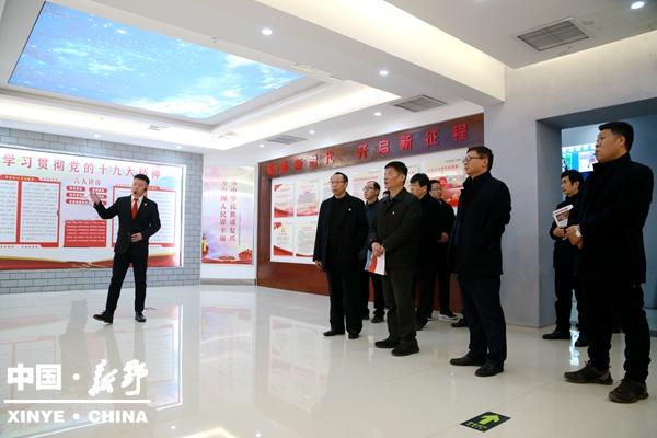 南阳市基层党建观摩组观摩指导新野县城市基层党建工作