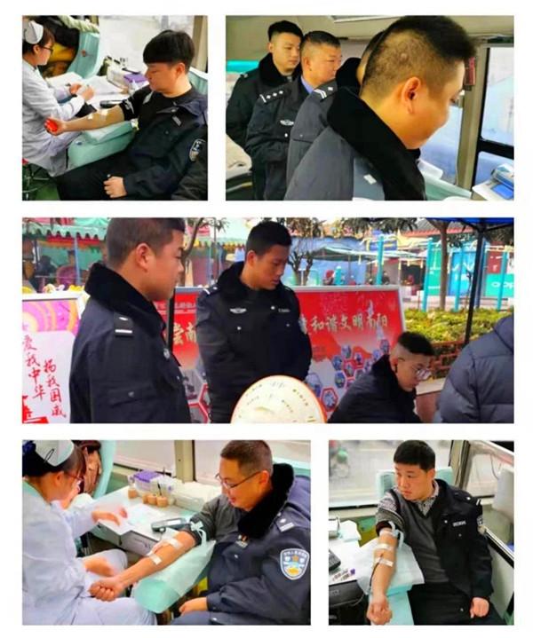 社旗:人民警察为人民 无偿献血显真情