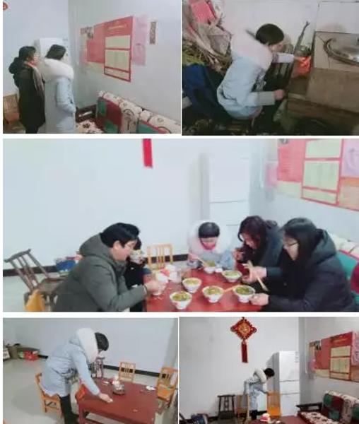 社旗县赵河街道党工委书记郭存为贫困户送温暖