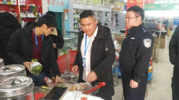 邓州:白牛派出所联合食药监局深入辖区开展食品安全检查
