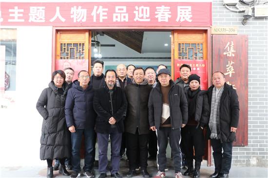 郭建明红色主题人物作品迎春展在郑州唐人街举行