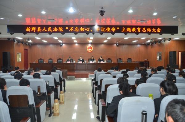 """新野法院召开""""不忘初心、牢记使命"""" 主题教育总结大会"""