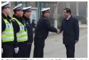 社旗县委书记余广东带领县四大家领导看望慰问公安民警、辅警