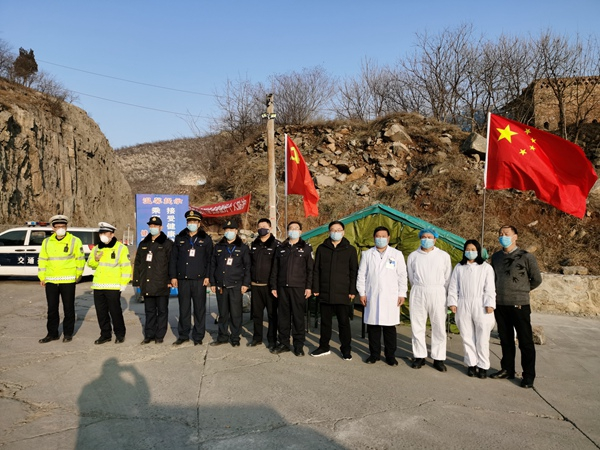 """林州东姚镇:""""疫""""不容辞!党旗在防控疫情一线高高飘扬"""