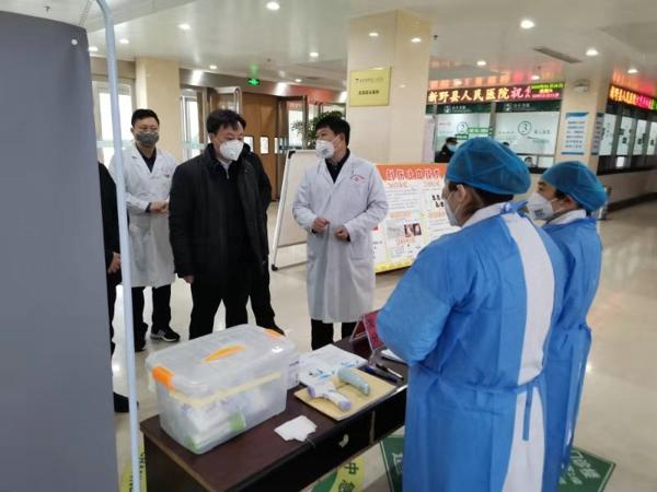 新野县人民医院预检分诊  严守抗疫第一线的前哨