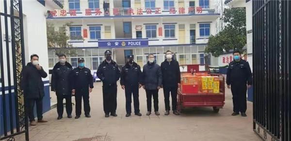 爱心人士为新野公安民警捐赠物资助力抗击疫情