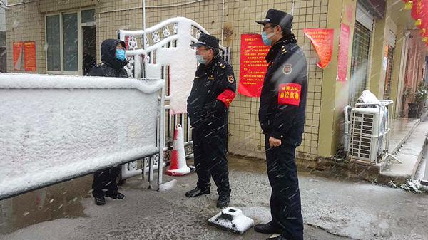 """邓州市城管局城市建设监察大队众志成城守""""疫""""线"""