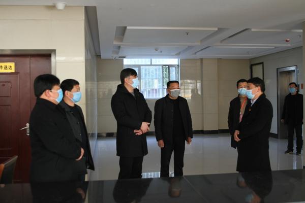 社旗县委常委、政法委书记李哲到社旗法院督导检查工作