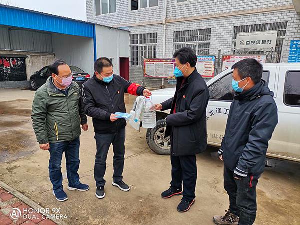 邓州市中线办助力基层组织同心抗疫
