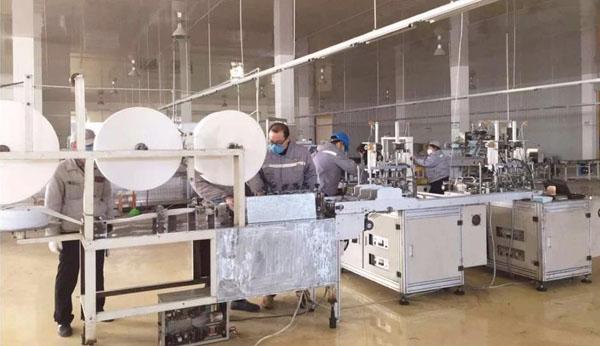 银鸽投资医用防护口罩生产线即将投产日产口罩30万只