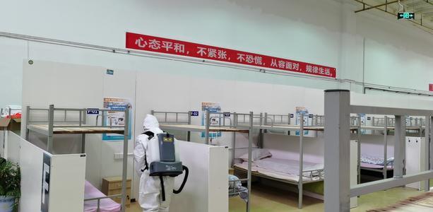 """武汉床位数量最多的""""方舱医院""""完成改造 即将投入使用"""