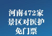 转发周知!河南全省472家景区对全国一线医护工作者免门票