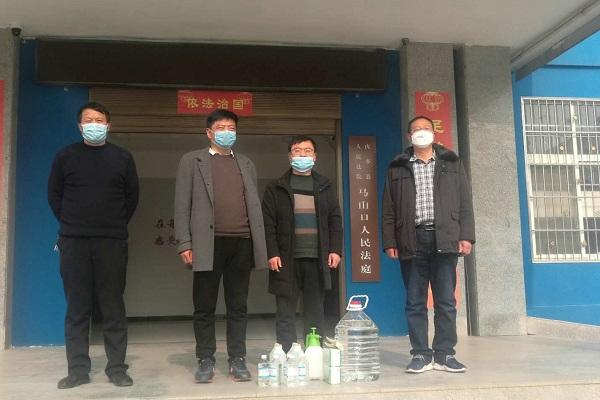 内乡法院党组看望慰问法庭一线防疫干警