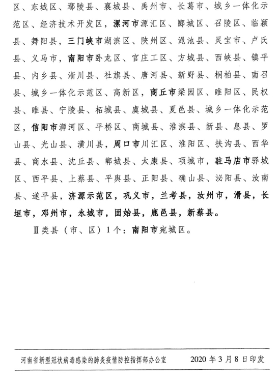 快讯!河南公布全省县(市、区)疫情风险等级名单