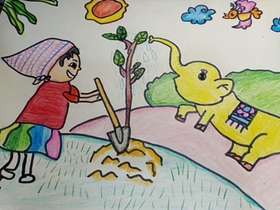 播下绿的种子  收获春的希望