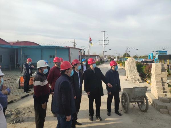 宛城区委书记刘中青到五里堡街道调研项目建设工作