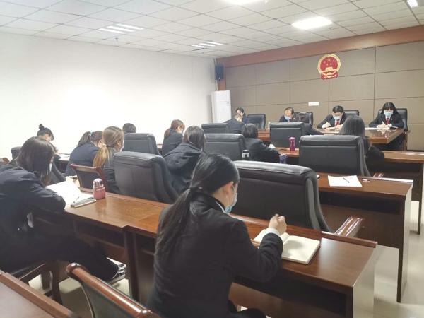 南阳高新区法院召开联络员会议