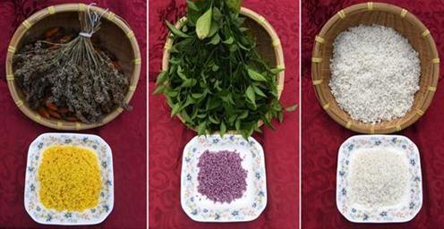 壮族三月三:制作五色糯米饭迎客